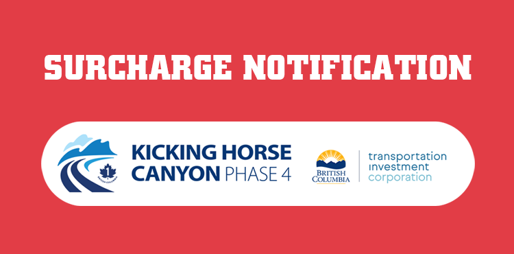 NEW SURCHARGE NOTICE